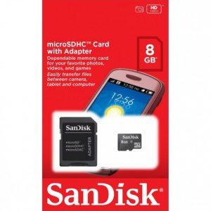 Cartão de Memória Sandisk Micro SDHC 8GB Classe 4
