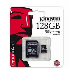 CARTÃO DE MEMÓRIA KINGSTON 128GB CLASSE 10